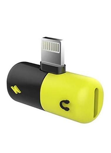 Platoon iPhone Lightning Splitter 2İn1 Şarj Ve Kulaklık Birleştirici Renkli